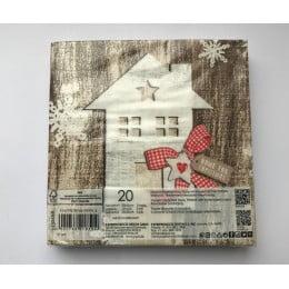 Салфетки бумажные Country Xmas Home 20 шт