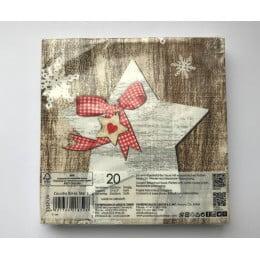 Салфетки бумажные Country Xmas Star 20 шт