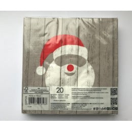 Салфетки бумажные Santa on Wood 20 шт