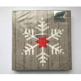 Салфетки бумажные Snowflake on Wood 20 шт