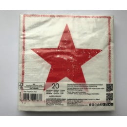 Салфетки бумажные Star Fashion red 20 шт