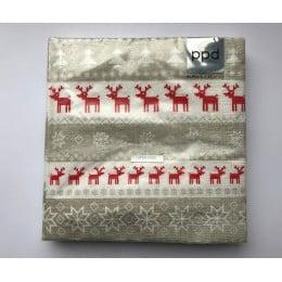 Салфетки бумажные Magic Christmas taupe 20 шт