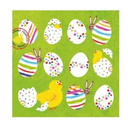 Салфетки Eggs Allover бумажные 20 шт