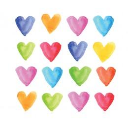 Салфетки Aquarell Hearts бумажные 20 шт