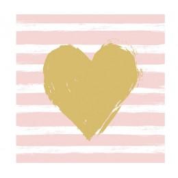 Салфетки Heart & Stripes бумажные 20 шт
