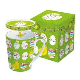 Кружка с крышкой в подарочной коробке Easter Buddies