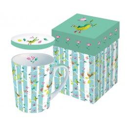 Кружка с крышкой в подарочной коробке Birds Twitters