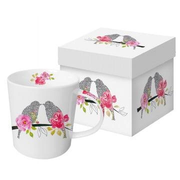 Кружка в подарочной коробке Love Birds