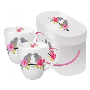 Набор кружек в подарочной упаковке Love Birds