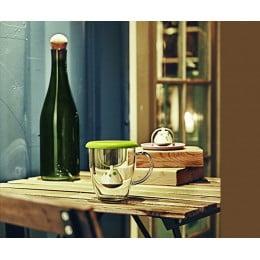 Кружка с емкостью для заваривания чая Birdie Swing Nest зеленая