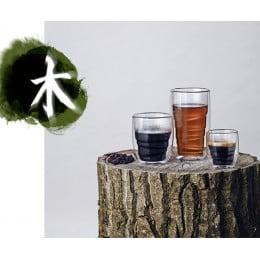 Стаканы QDO Elements Wood 2 шт 75 мл