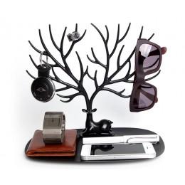 Декоративный органайзер для украшений Deer малый черный