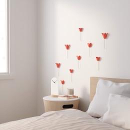 Декор для стен Bloomer 9 элементов коралловый