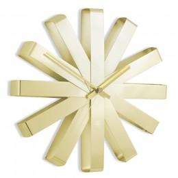Часы настенные Ribbon латунь