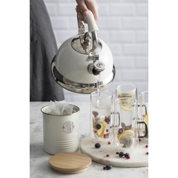 Чайник со свистком Living кремовый