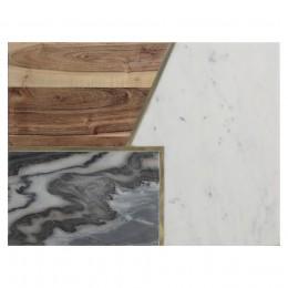Доска сервировочная Elements из мрамора, камня и акации 40х30 см