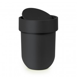 Контейнер мусорный с крышкой Touch черный