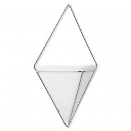 Декор для стен Trigg большой белый/никель