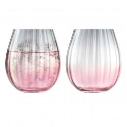 Набор из 2 тумблеров LSA Dusk 425 мл розовый-серый