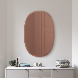 Зеркало овальное Hub 61 х 91 см медь