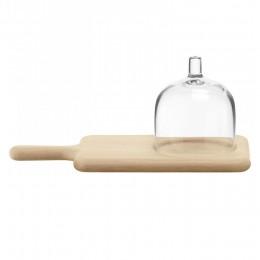 Блюдо сервировочное со стеклянным куполом 35.5 см Paddle