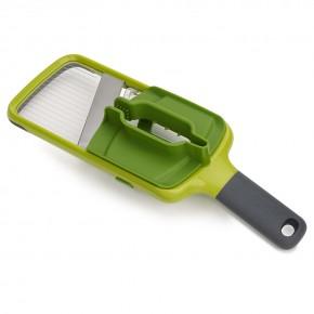 Терка с держателем для продуктов Mandoline зеленая