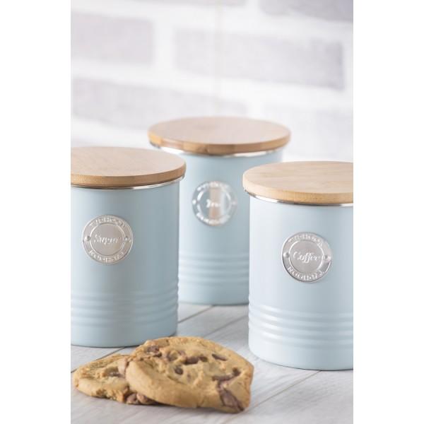 Емкость для хранения кофе Living голубая 1 л