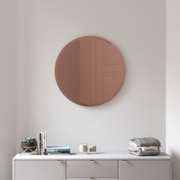 Зеркало настенное Hub D61 см медь