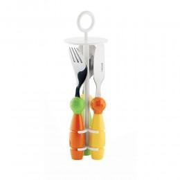 Набор столовых приборов Billo оранжевый/зеленый
