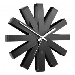 Часы настенные Ribbon черный