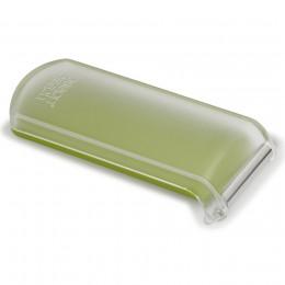 Овощечистка с гладким лезвием и емкостью для очисток PeelStore зеленая