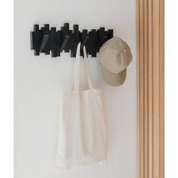 Настенная вешалка Sticks черная