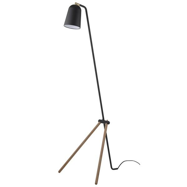 Лампа напольная Giraffe дуб, черное матовое основание