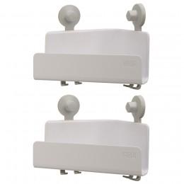 Набор из 2 угловых органайзеров для душа EasyStore белый