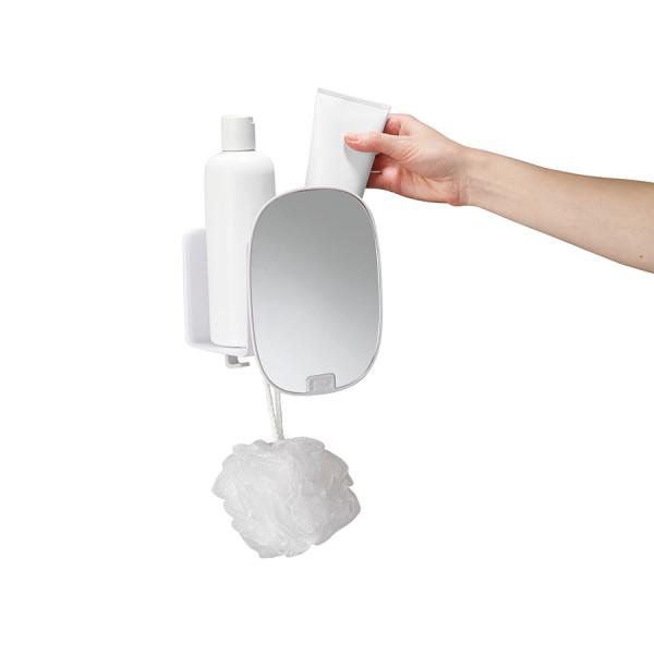 Органайзер для душа с зеркалом EasyStore белый
