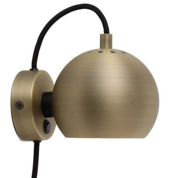Лампа настенная Ball D12 см античная латунь, матовая