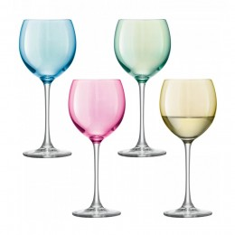 Набор из 4 бокалов для вина Polka 400 мл пастельный