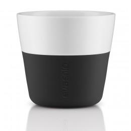 Кофейные чашки Lungo 2 шт 230 мл черные