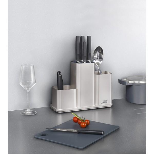 Органайзер для кухонной утвари настольный Counter Store серебристый