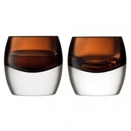 Набор из 2 тумблеров LSA Whisky Club 230 мл коричневый