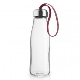 Бутылка стеклянная 500 мл гранатовая