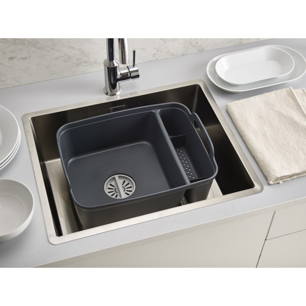 Контейнер для мытья посуды Wash&Drain™ тёмно-серый