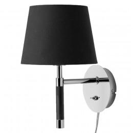 Лампа настенная Venice черная хром