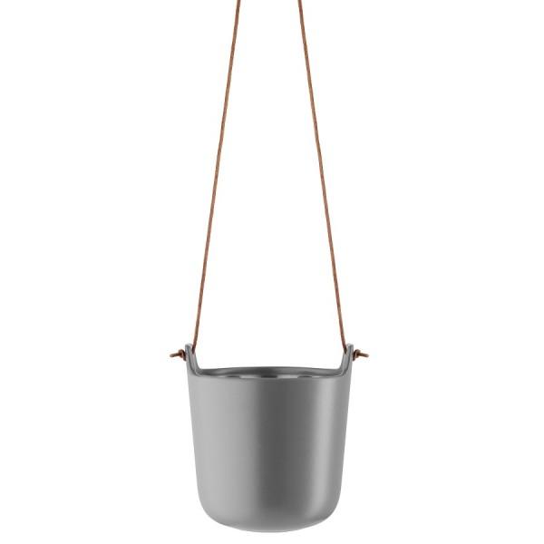 Горшок с функцией самополива подвесной серый