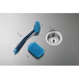 Набор из 2 щеток для мытья посуды CleanTech синий