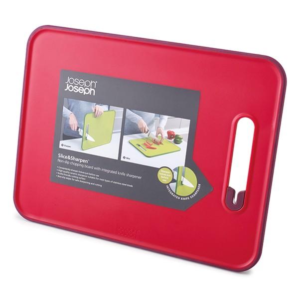 Доска разделочная с ножеточкой Slice & Sharpen™ большая красная