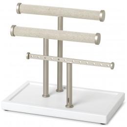 Органайзер для украшений Trigem белый/никель