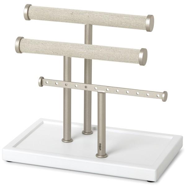 Органайзер для украшений Trigem белый-никель