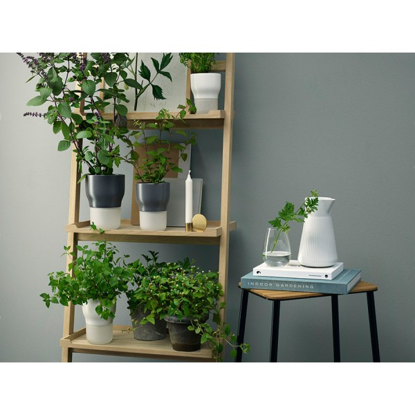 Горшок для растений с функцией самополива D11 см серый