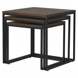 Набор столиков Unique Furniture Rivoli 3 штуки